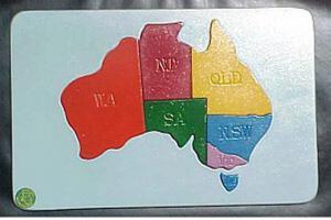 Raised Picture Puzzle - Australia