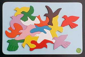 Raised Picture Puzzle - Flock of Birds