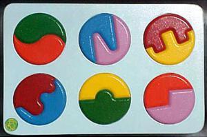Raised Picture Puzzle - Circles
