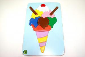 Raised Picture Puzzle - Ice Cream