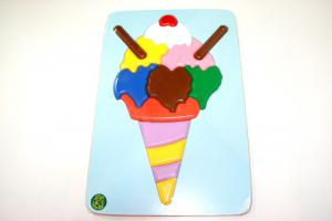 Raised Picture Puzzle - Ice Cream