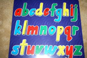 Raised Picture Puzzle - Lowercase Alphabet