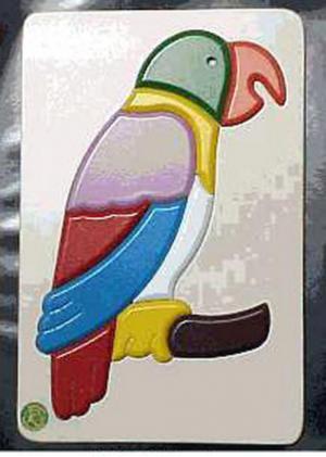 Raised Picture Puzzle - Parrot