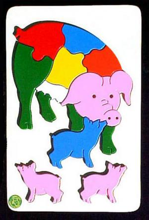 Raised Picture Puzzle - Pig Family