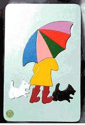 Raised Picture Puzzle - Rainy Day