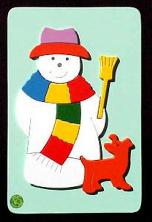 Raised Picture Puzzle - Snowman
