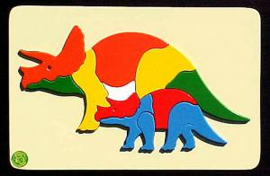 Raised Picture Puzzle - Triceratops