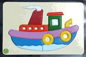 Raised Picture Puzzle - Tugboat