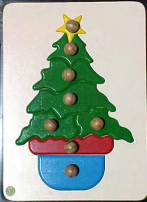 Raised Picture Puzzle - Christmas Tree