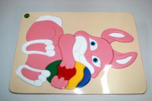 Raised Picture Puzzle - Rabbit