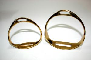 Rocking Horse Accessory - Brass Stirrups