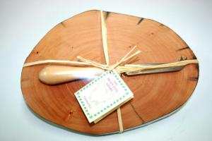 Huon Pine Cheese Board and Knife