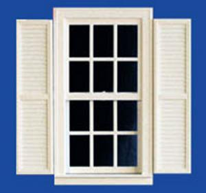 Doll House Parts - Window with Shutters