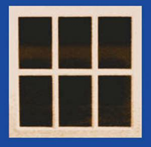 Doll House Parts - Single Pane Window