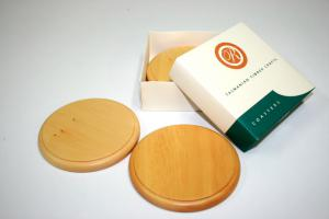 Huon Pine Coaster Set