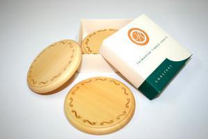 Huon Pine Engraved Coaster Set