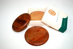 Blackwood Engraved Coaster Set