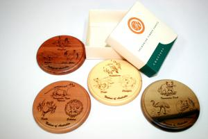 Animal Engraved Coaster Set