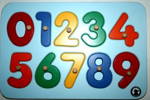 0-9 Number Puzzle with Knobs