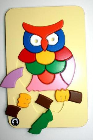 Raised Puzzle - Owl
