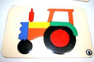 Raised Puzzle - Tractor