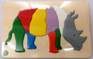 Raised Picture Puzzle - Rhinoceros