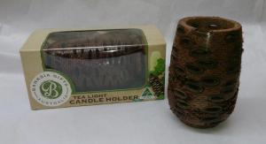 Tall Hollow Banksia Candle Holder