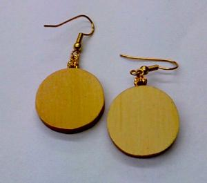 Huon Pine Round Earrings
