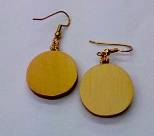 Huon Pine Round Earrings