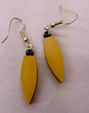 Huon Pine Leaf Earrings