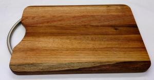 Chopping Board - Long Grain Small Handle Blackwood