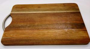Chopping Board - Long Grain Large Handle Blackwood